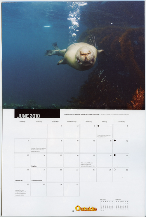 Outside Magazines 2010 Wall Calendar