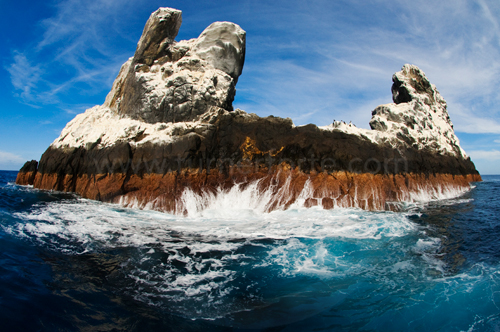 Roca Partida the tip of an submerged island, Revillagigedos Islands